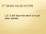 5th Grade Solar System - Mrs. Kellogg`s 5th Grade Class