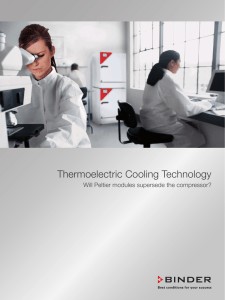Thermoelectric Cooling Technology