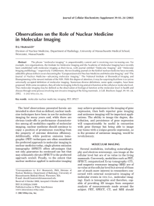 Observations on the role of nuclear medicine in molecular imaging