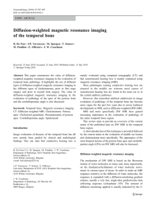 Diffusion-weighted magnetic resonance imaging of the temporal bone