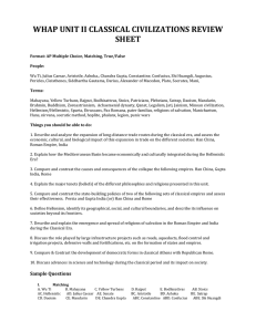 unit 2 review sheet - Tanque Verde School District