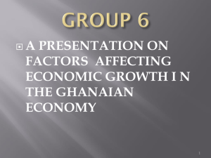 a presentation on factors affecting economic growth in