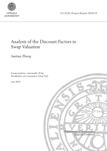 Analysis of the Discount Factors in Swap Valuation