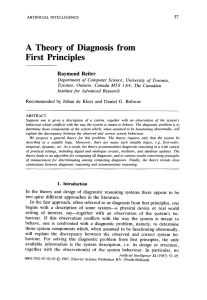A Theory of Diagnosis from First Principles
