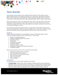 Panic disorder - Medical Providers` Behavioral Health Toolkit