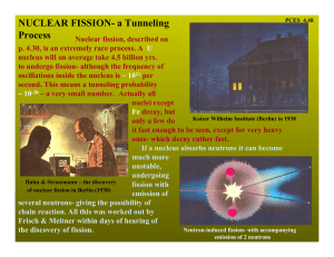 Nuclear Physics - fission, fusion, and the stars