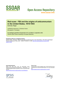 www.ssoar.info Red scare : FBI and the origins of anticommunism in
