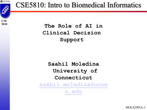 CSE5810: Intro to Biomedical Informatics