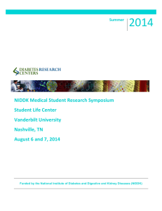 NIDDK Medical Student Research Symposium Student