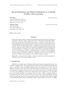 Kernel Estimation and Model Combination in A Bandit Problem with