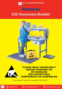 please read thoroughly before working on or handling esd
