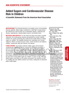 Added Sugars and Cardiovascular Disease Risk in Children