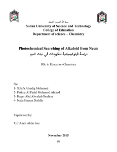 Alkaloids - SUST Repository - Sudan University of Science and