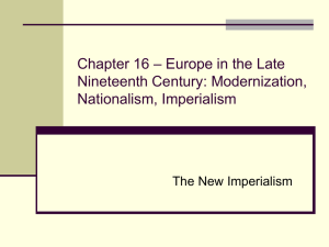 Chapter 16 – Europe in the Late Nineteenth Century: Modernization