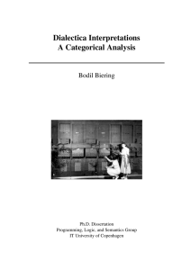 Dialectica Interpretations A Categorical Analysis