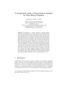 A Comparative Study of Discretization Methods for Naive