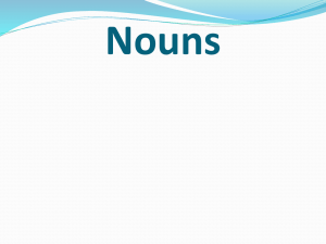 what are nouns? - Lakewood City Schools