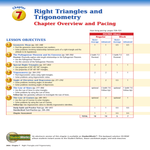 Study Guide And Intervention Trigonometric Identities
