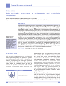 Sella turcica-Its importance in orthodontics and craniofacial