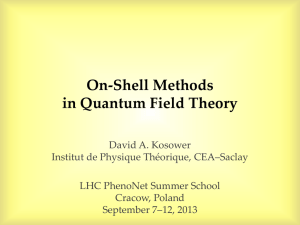 On-Shell Methods in Quantum Field Theory