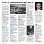 Necessity`s son: Moorfields Eye Hospital