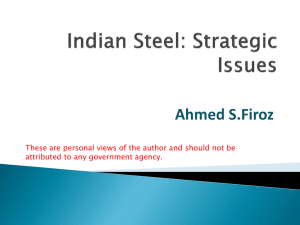 Report of Sub Group - Steel Furnace Association of India