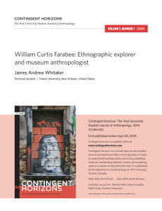 William Curtis Farabee: Ethnographic explorer and museum