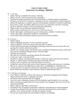 Study Guide3 - Purdue Psychological Sciences