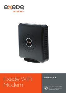 Exede WiFi Modem User Guide