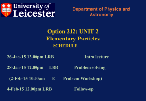 212 Particle Physics Lecture 1 - X-ray and Observational Astronomy
