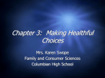 Chp. 3 Healthful Choices copy