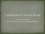 Landmarks of Ancient Rome
