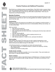 Routine Practices Additional Precautions Fact Sheet