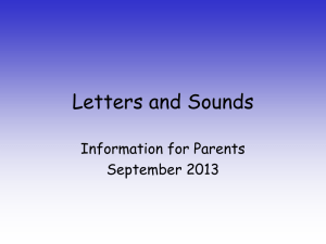 Letters and Sounds - Tewin Cowper C of E Primary School