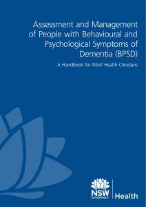 Assessment and Management of People with Behavioural