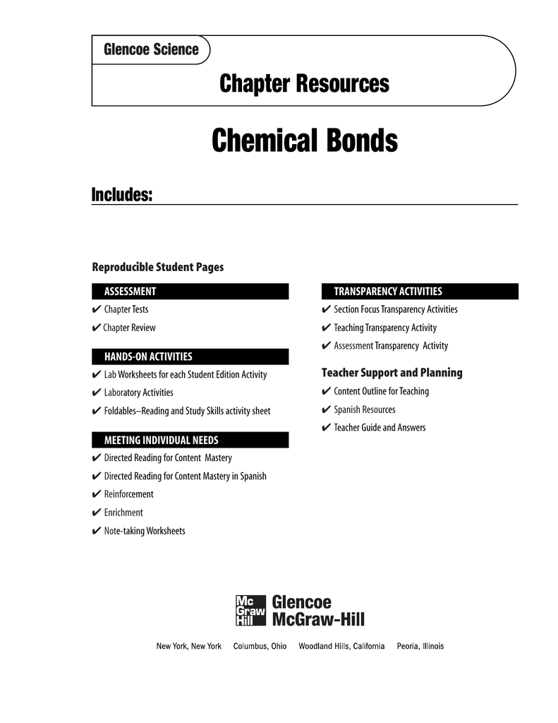 Chapter 20 resource chemical bonds urtaz
