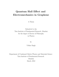 Quantum Hall Effect and Electromechanics in Graphene