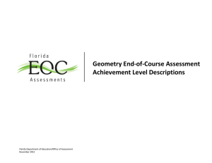 Geometry EOC Assessment - Florida Department Of Education
