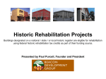 Historic Rehabilitation Projects