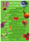 10 good reasons poster - Massachusetts Farm to School