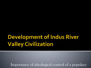 The Development of Civilization in the Indus River Valley
