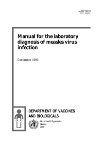Manual for the laboratory diagnosis of measles virus infection