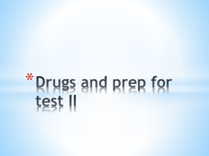 Ch on Drugs and Prep for Test