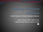 Reading the Dental LIterature