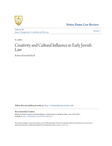 Creativity and Cultural Influence in Early Jewish