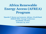 Africa Renewable Energy Access Grants Program (AFREA)