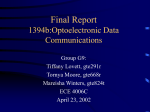 Background Report 1394b:Optoelectronic Data Communications