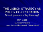 The Lisbon Strategy as policy co-ordination
