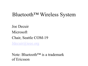 Bluetooth Wireless System