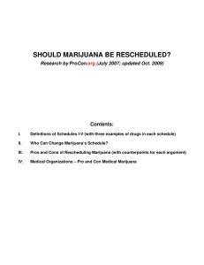 SHOULD MARIJUANA BE RESCHEDULED?